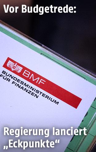 Unterlagen und BMF-Logo