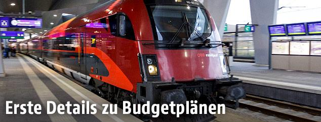 ÖBB Railjet am Wiener Hauptbahnhof