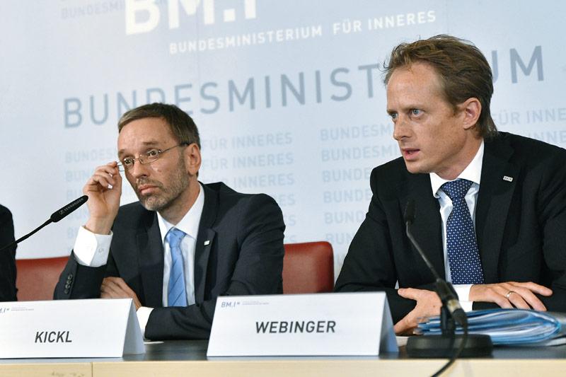 Herbert Kickl und Peter Webinger