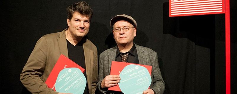Die Gewinner der Hauptpreise auf der Diagonale: Nikolaus Geyrhaler (Dokumentarfilm, links) und Christian Frosch (Spielfilm).