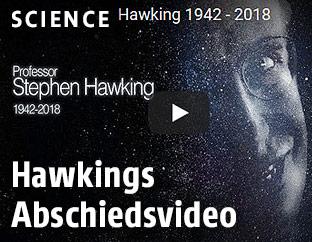Screenshot zeigt Video von Stephen Hawking