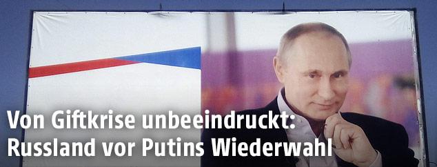 Wahlwerbung für Putin