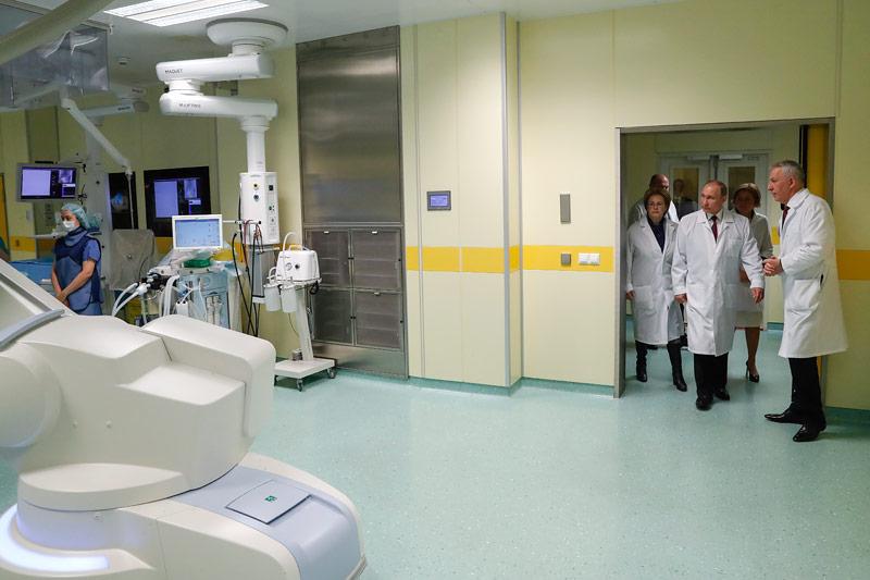 Putin auf Besuch in einer medizinischen Forschungseinrichtung