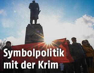 Putin-Unterstützer auf der Krim
