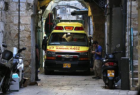 Rettungswagen in der Altstadt Jerusalems