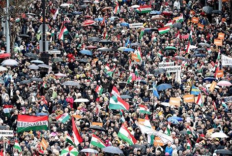Kundgebung in Budapest