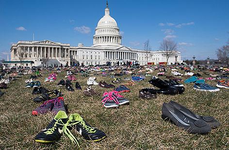 Schuhe vor dem Capitol