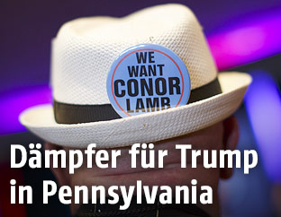 Werbebutton für Conor Lamb