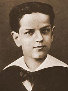 Claude Debussy im Alter von zehn Jahren