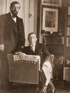 Claude Debussy mit Igor Strawinsky