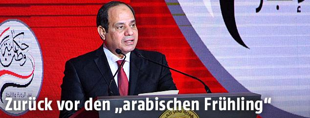 Abd al-Fattah al-Sisi bei einer Rede in Kairo