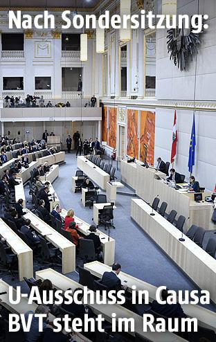 Plenum des Nationalrates anl. einer Sondersitzung zur BVT-Affäre