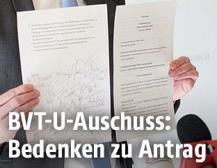 SPÖ-Antrag zum U-Ausschuss