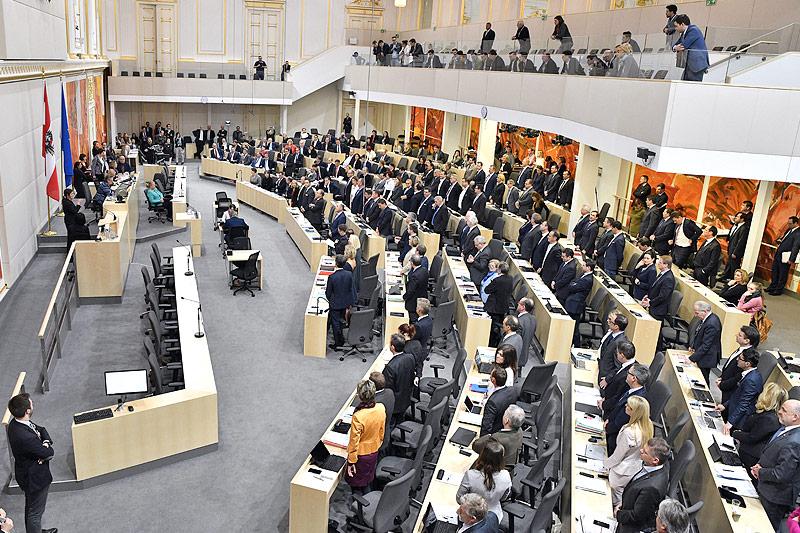 Abstimmung im österreichischen Parlament