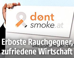 """Schild der """"Don't Smoke""""-Kampagne"""