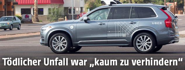 Uber-Fahrzeug