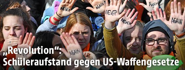 Demonstration für stärkere Waffenkontrolle