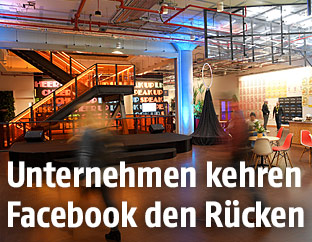 Das Hauptquartier von Facebook in London