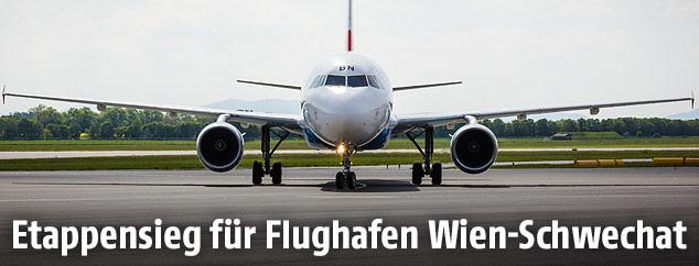 Flugzeug am Flughafen Schwechat