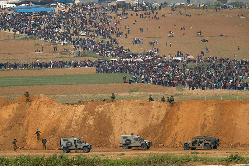 Soldaten an der israelischen Grenze