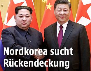 Nordkoreas Führer Kim Jong Un und Chinas Präsident Xi Jinping