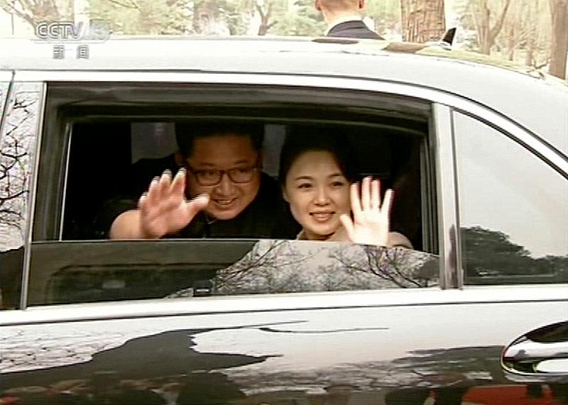 Kim Jong Un, und seine Frau Ri Sol Ju