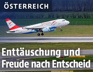 Flugzeug auf dem Flufhafen Wien