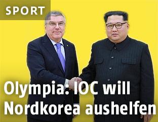 Thomas Bach und Kim Jong Un