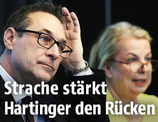 Heinz-Christian Strache und Beate Hartinger-Klein