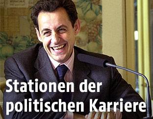 Der französische Innenminister Nicolas Sarkozy im März 2003