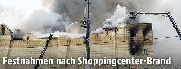 Brennendes Einkaufszentrum