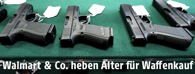 Waffen in einem US-Store