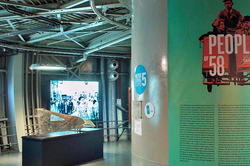Ansicht der Ausstellung über die Atomium-Expo 1958