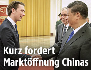 Sebastian Kurz und Xi Jinping
