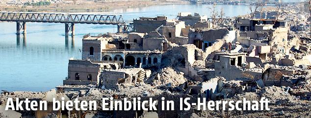 Zerstörung in Mossul