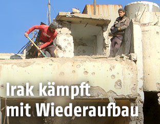 Aufräumarbeiten im Irak