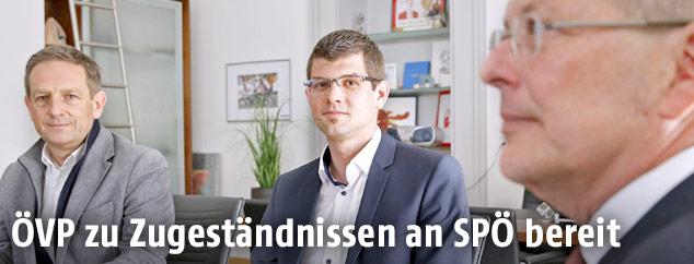 Christian Benger, Martin Gruber und Peter Kaiser
