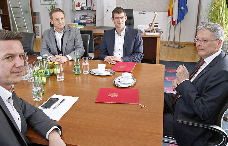 Daniel Fellner, Christian Benger, Martin Gruber und Peter Kaiser