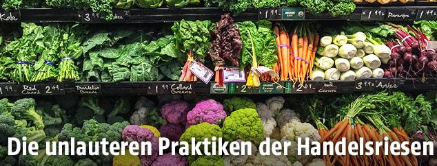Gemüse in Supermarkt