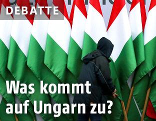 Ungarn-Flaggen