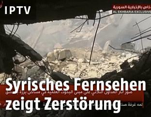 Zerstörung nach Luftangriffen