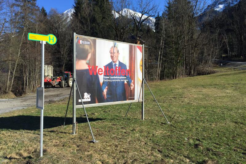 Werbung zur Landtagswahl in Salzburg