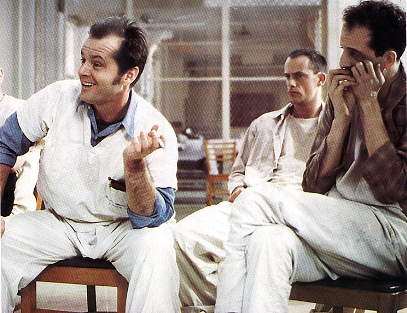 """Filmszene mit Jack Nicholson in """"Einer flog über das Kuckucksnest"""""""