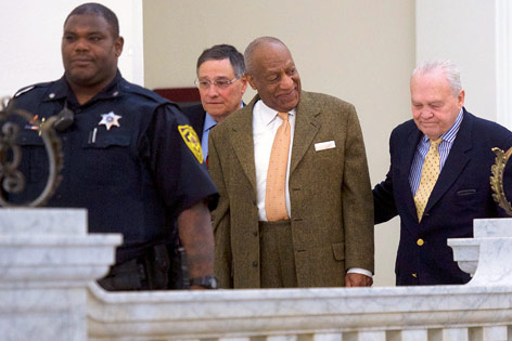 Bill Cosby am Weg zum Gericht