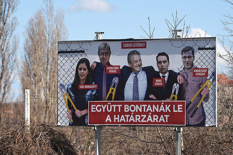 Wahlplakat von George Soros