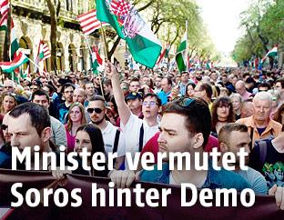 Demonstration in Budpest