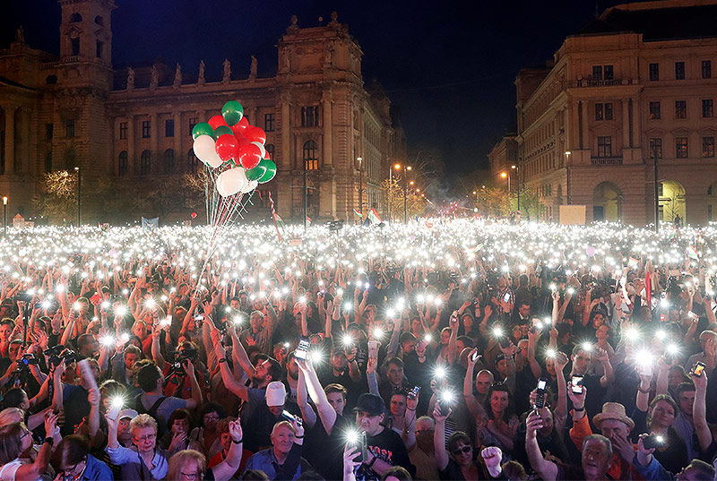 Großdemo in Budapest
