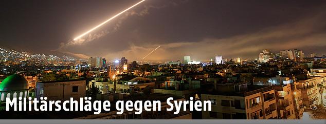 Raketenangriff auf Damaskus