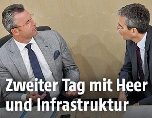 Infrastrukturminister Norbert Hofer (FPÖ) und Finanzminister Hartwig Löger
