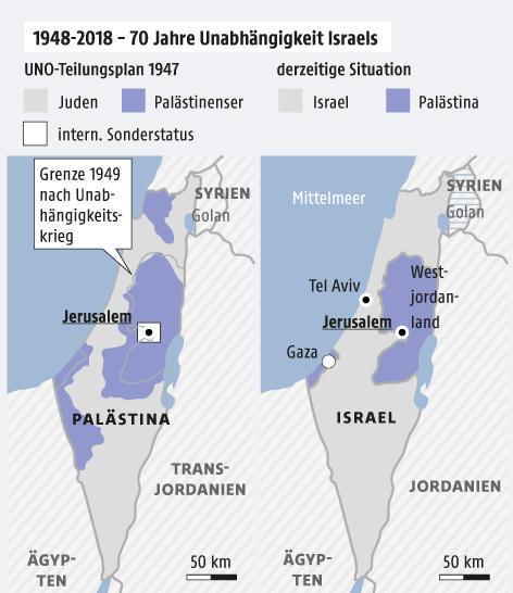 Israel feiert 70-jähriges Bestehen